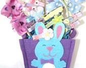 NEW Custom Boutique BUNNY BASKETS Medium Spring Easter Gift You Choose