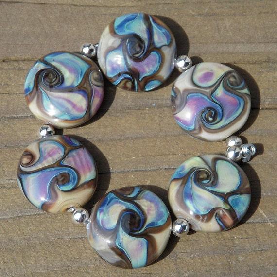 Handmade lampwork beads...Rampage