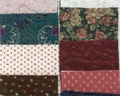 "Set of three inch 3"" charm squares 100 all different calico floral prints vintage fabric too"