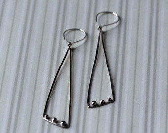 Sterling Silver Triangles and Dots Earrings