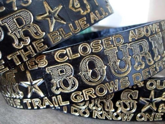 Belt Custom and Colo Leather with your words black brown red --band lyrics,poem,fav words birthday present Men Wedding Favor
