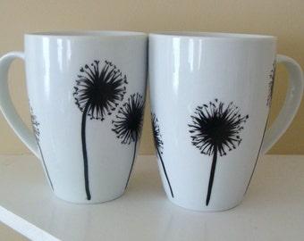 Dandelion Mug Set Hand Painted