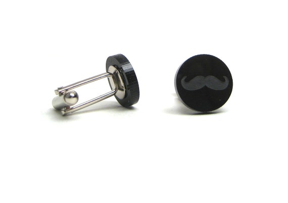 Moustache cuff links