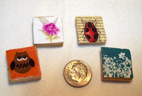 4 Scrabble tile magnet