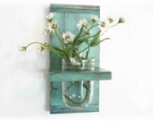 Primitive Country Mint Chip Green  wood Shabby Chic Cottage Wall Shelf