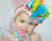Made to Order Funky Over the Top Hair Bow: You Choose Color And Theme Ostrich Marabou GREAT PHOTO PROP