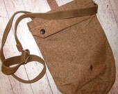 Vintage Canvas Green Army Bag