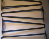 4 Modern Wrought Iron Hair Pin Legs 14 inch