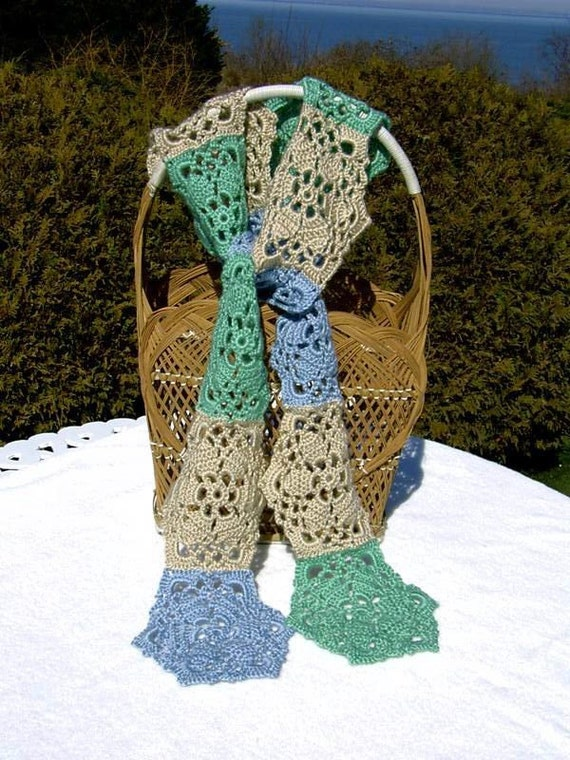 Ice Crystal  CROCHETED SCARF