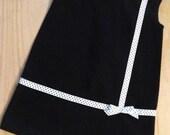 Retro 1965 Inspired  Little black dress-children clothing