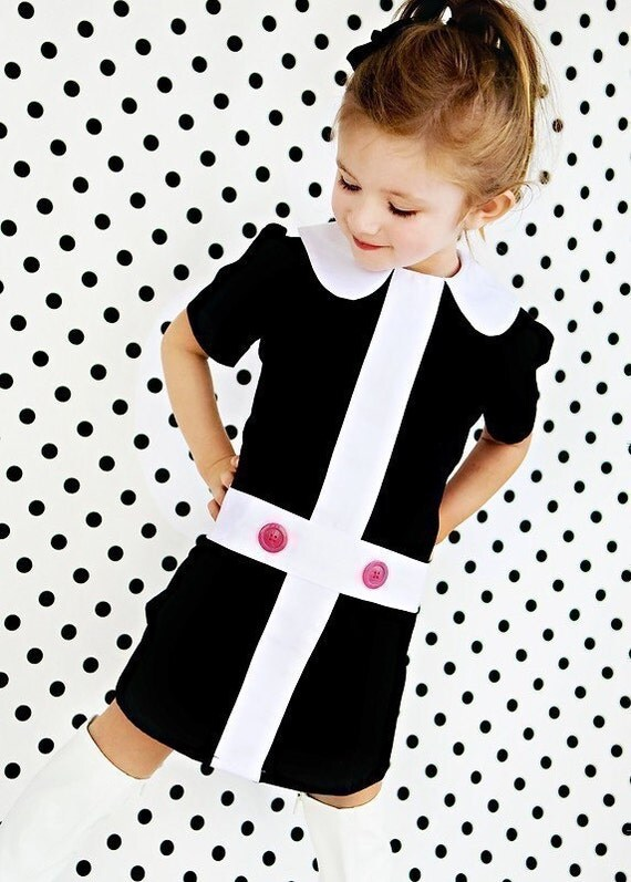 Mod 1960 39 S Style Retro Lauren Black And White By Faithworks4u