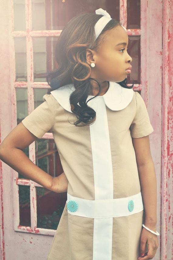 Mod 1960s Style Lauren Dress For Girls Children By Faithworks4u