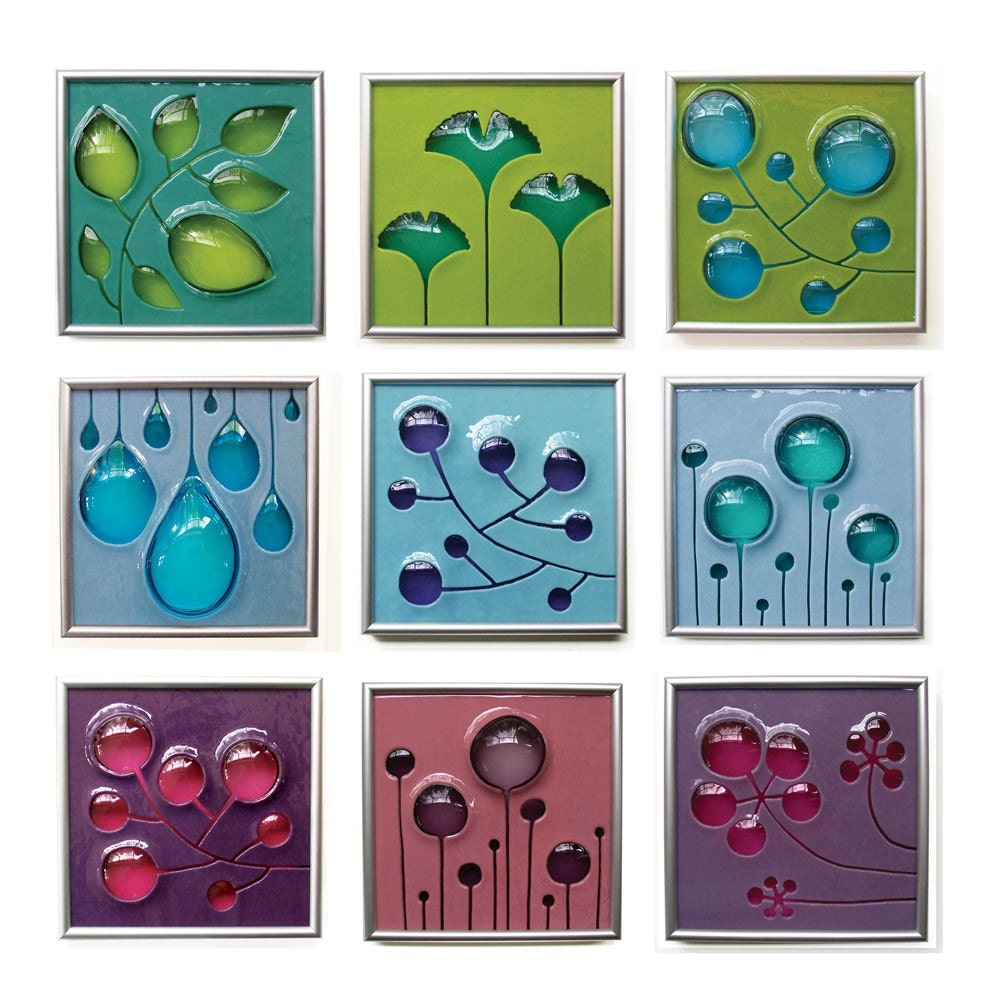 Fused Glass Wall Art: Starfire Studios/Decor-M Hand Carved And Fused Glass Art Tile