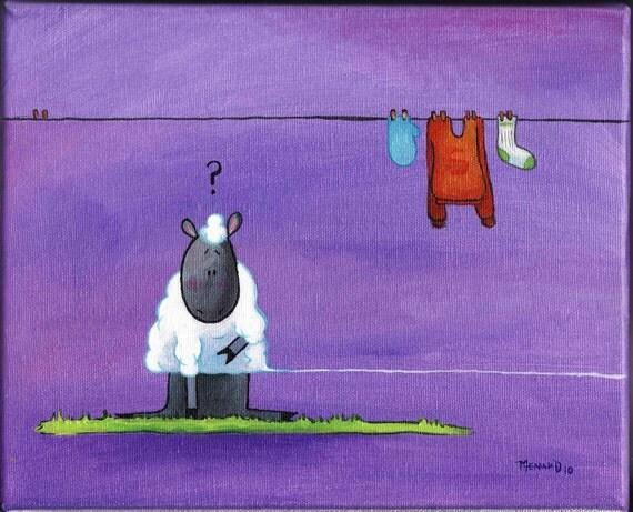 You've got to be knitting me sheep print