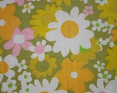 Vintage Sheet Fat Quarter Funky Flowers
