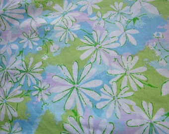 Vintage Sheet Fat Quarter White Daisy