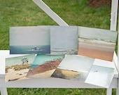 Sand and Sea Photography Postcards, nautical, beach, ocean, sand, seagull, photo
