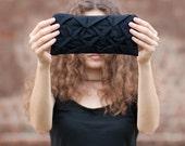 Piccola Ninfea pouch in black