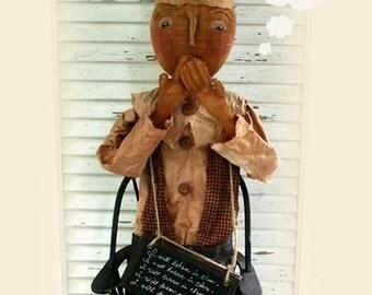 Primitive Folk Art Dunce Doll - Mailed Pattern