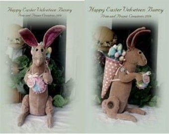 Primitive Whimsical Easter Bunny Rabbit Doll - ePattern