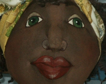 Large 48inch Primitive Folk Art Doll - Maisey Mae - Mailed Pattern