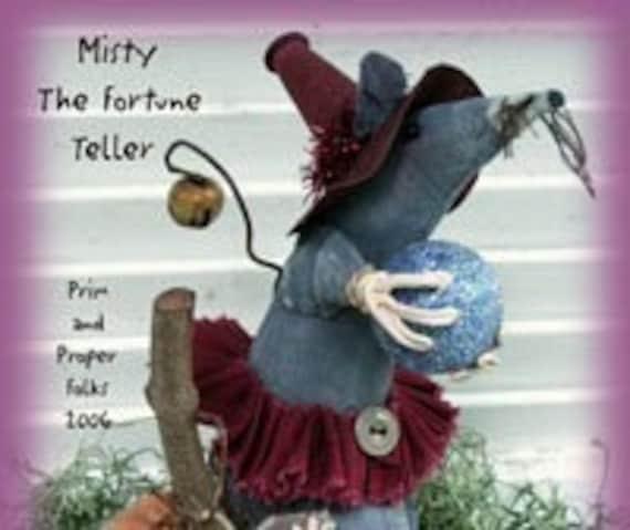 Primitive Folk Art Halloween Mouse Doll - Misty the Fortune Teller Epattern