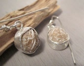 Desert rose earrings - Natural desert rose and sterling silver