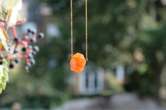 RESERVED// Autumn Sun Necklace, Carnelian and Gold - LAST CHANCE