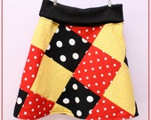 12M-6 Girls Maddie Simply Sweet Minnie Mouse Patchwork Skirt Free Shipping