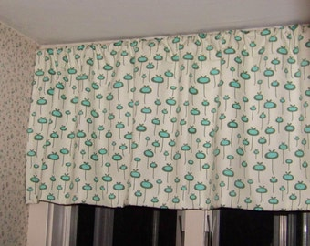 CLEARANCE SALE! Amy Butler Modern Window Valance made with Amy Butler August Fields Fresh Start in Moss