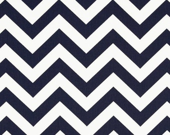 NEW SALE PRICE!! Blue Chevron Window Valance Made in Navy Blue and White Zig Zag Fabric