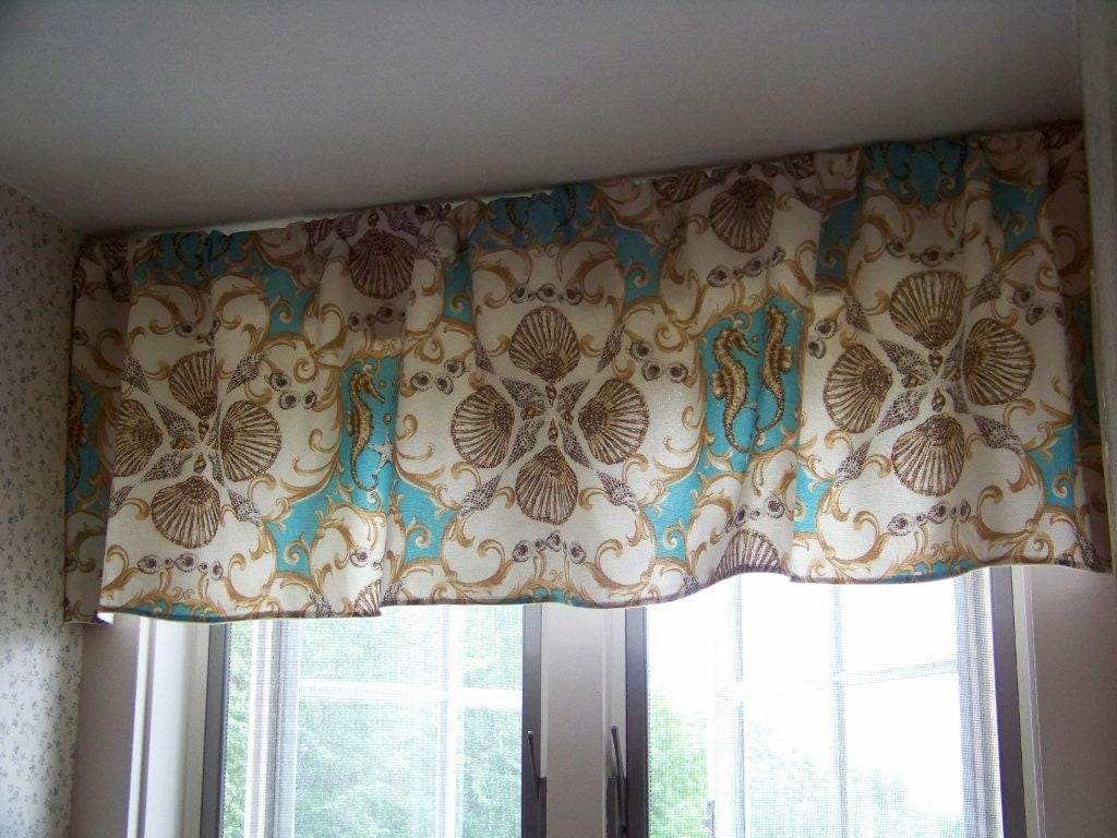 Jewel Of The Sea Custom Window Valance Made With Waverly Sun N