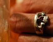 Skull Mask Skull Ring with Engraving for R.R.