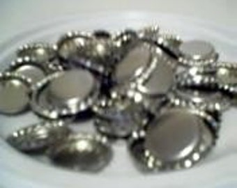 100 Shiney CHrome Bottle Caps With/No Liners