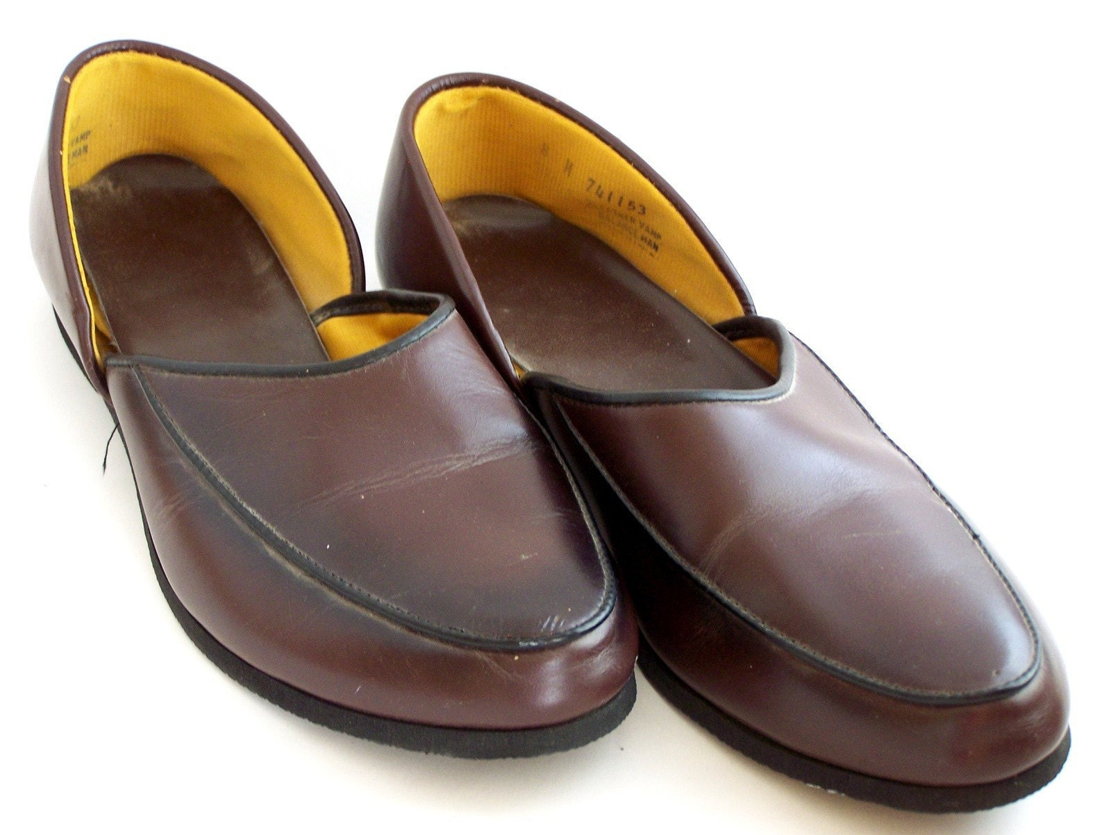 vintage mens house slippers ala father knows best