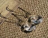 Upcycled Vintage Crystal Prism Earrings