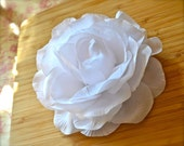 Gorgeous Large Bride Wedding Flower Pure White Rose Gardenia 5 inch Hair Clip Bow Bridal Bridesmaid  Flower Girl PROM Hairbow Barrette