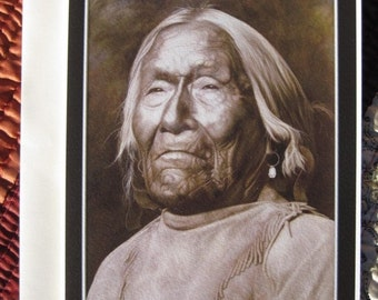 Nar-ah-ke-ge-etsu (Apache Scout) Blank Greeting Card