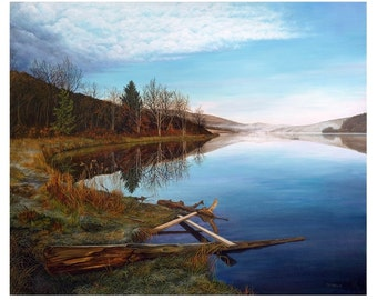 The Inlet At Quaker Lake, Limited Edition  Giclée Print, From My Original Oil Painting