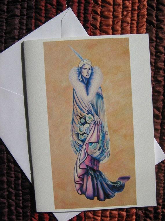 "Blank Greeting Card of ""Raquel"""