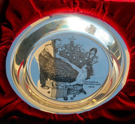 1973 Franklin Mint Christmas Plate Solid Sterling Silver