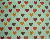 Hearts on Cotton Thermal Knit Fabric