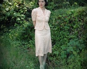 1940s Georgia Peach Lace Day Suit RESERVED FOR FACTORYGIRL69