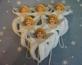 Vintage Style Feather Tree Angel Ornaments