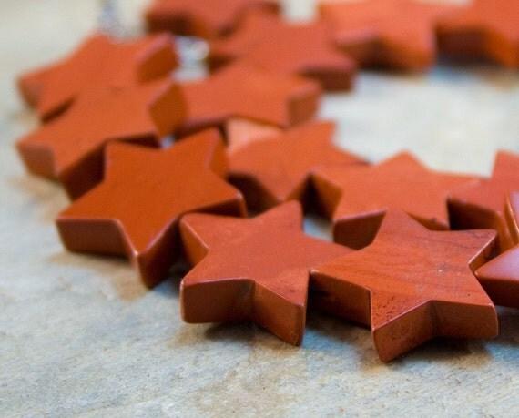 Autumn Star Handmade Beaded Artisan Choker Brick Jasper