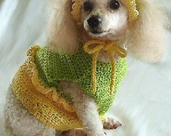 Crochet Pattern - dog crochet outfit pattern, crochet dog clothes, dog crochet shirt, dog crochet hat