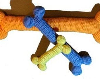 Crochet Pattern - Dog Bones crochet dog toy, crochet dog bone, crochet pattern, knit pattern