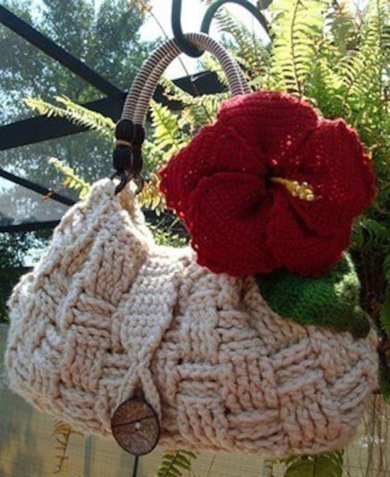 Hibiscus Purse Crochet Pattern
