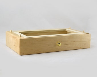 Modular Jewelry Box System - Maple Deep Drawer