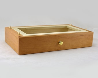 Modular Jewelry Box System - Cherry Deep Drawer